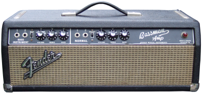 Fender Bassman head black face '66